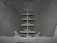 Stav výsypiek elektrofiltra po nahradení pneumatických kladív zariadením IM3-1,2-9
